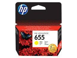 HP CZ112AE Yellow Ink Cartridge №655