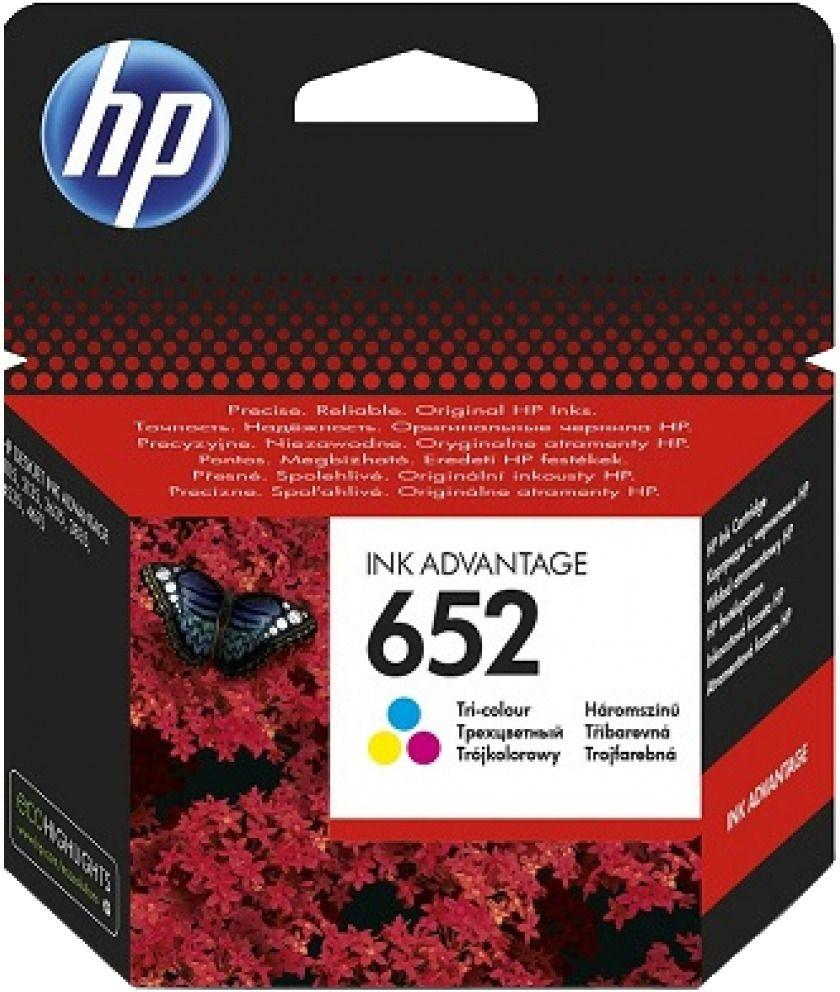 HP 652 Tri-color Ink Cartridge