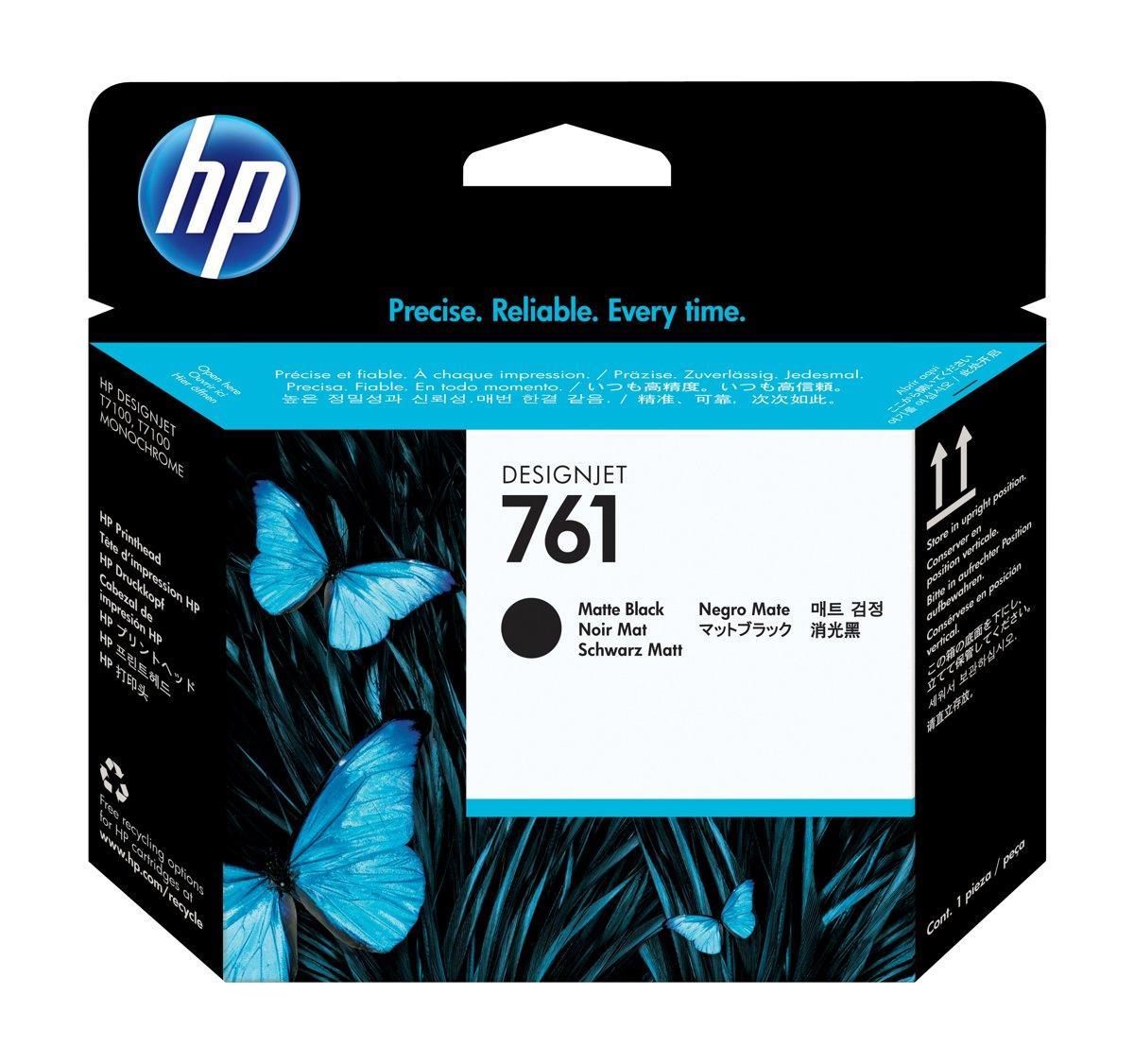 HP CH648A Matte Black and Matte Black Inkjet Printhead №761