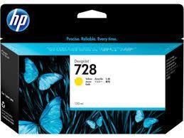 HP F9J65A 728 130-ml Yellow Ink Crtg