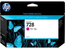 HP F9J66A 728 130-ml Magenta Ink Crtg