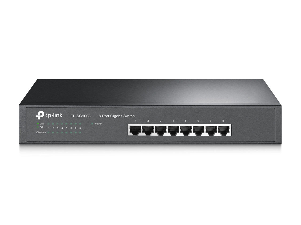 Коммутатор GbE 8-портовый Tp-Link TL-SG1008 8-port Gigabit Switch, 1U