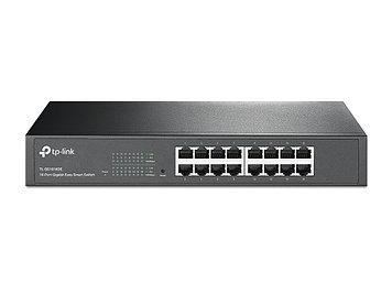 Коммутатор Easy Smart GbE 16-портовый Tp-Link TL-SG1016DE