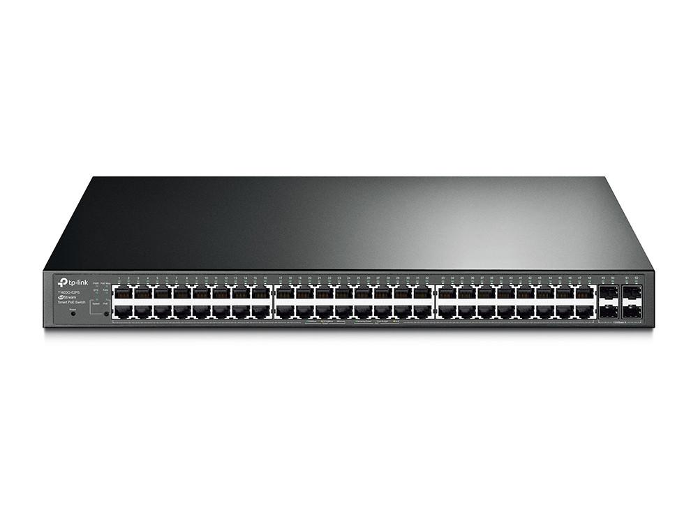 Коммутатор PoE+ Smart GbE 48-портовый Tp-Link T1600G-52PS