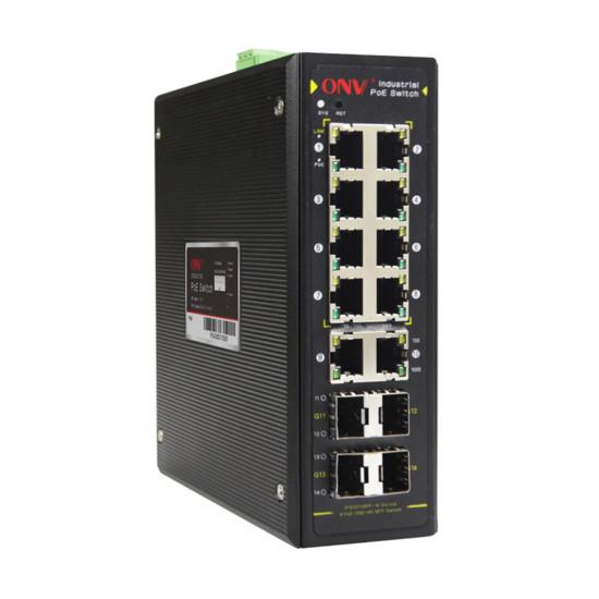 Коммутатор PoE индустриальный управляемый GbE 8-портовый ONV IPS33148PFM