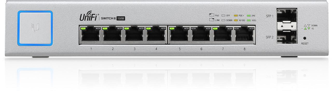 Коммутатор Ubiquiti US-8-150W UniFi Switch, 8-Port, 150W