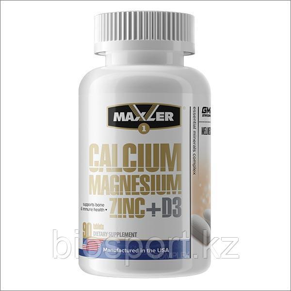 Maxler, Кальций Цинк Магний + D3, 90 таблеток