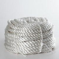 Канат кручёный ПАТ d20 мм, 50 м, цвет белый