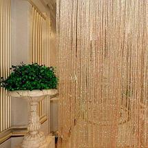 Штора веревочная «Кисея» декоративная {50х200} (Серебряный), фото 3