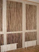 Штора веревочная «Кисея» декоративная {50х200} (Серебряный), фото 2