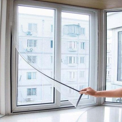 Сетка антимоскитная на окно [130х150 см] самоклеящаяся, фото 2