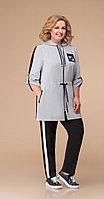 Спортивная одежда Svetlana Style-1237, черно-серый, 62