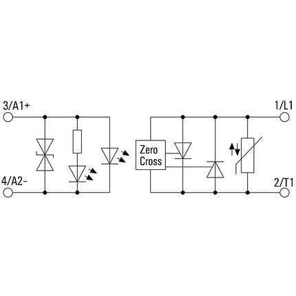 Твердотельные реле PSSR 24VDC/1PH AC50A HP, фото 2
