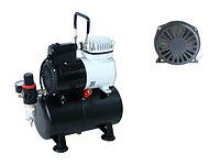 Компрессор воздушный поршневой с манометром, воздушным фильтром, редуктором давления и ресивером