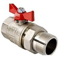 Кран шаровой VT227 3/4 М/П Basic с полусгоном