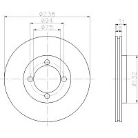 Тормозные диски Mazda  323 Универсал  (передние, Ashika, D238)