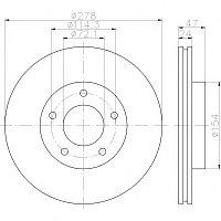 Тормозные диски Mazda Tribute (00-08, передние, Optimal, D278)