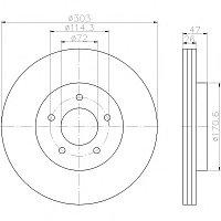 Тормозные диски Mazda Tribute (00-08, передние, Optimal, D303)