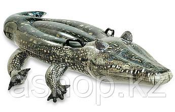 Надувная игрушка Intex Аллигатор, 1 место Возрост: От 3 лет, Нагрузка: 55 кгкг, Винил, Цвет: Зелёный