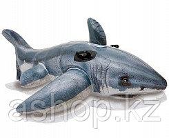 Надувная игрушка Intex Белая акула, 1 место Возрост: От 3 лет, Нагрузка: 55кг, Винил, Цвет: Серебристый