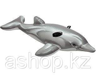 Надувная игрушка Intex Дельфин, 1 место Возрост: От 3 лет, Нагрузка: 55кг, Винил, Цвет: Серый
