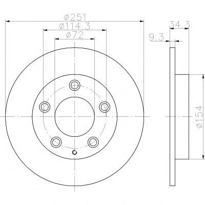 Тормозные диски Mazda  323  (94-98, задние,D250, Optimal)