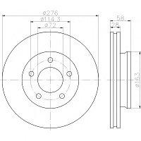 Тормозные диски Mazda Mpv (96-99, передние, D276, Optimal)