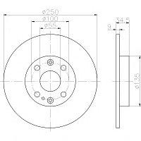 Тормозные диски Mazda 323 (91-94, задние, D250, Optimal)