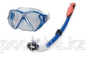 Набор для плавания 55960 Силиконовая маска и трубка с клапаном Intex «Pro-Series»