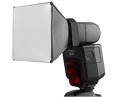 Мини софтбокс для вспышек 15см х 17см Canon, Nikon, Nissin, Yongnuo и др. от Pixco, фото 2