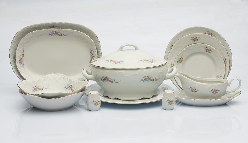Сервиз столовый 12 персон 46 предметов Чехия Rococo 8220