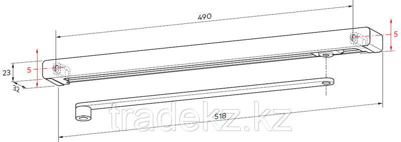 Скользящая тяга G-N XEA накладная для доводчика TS 92 XEA