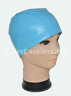 Комбинированная шапочка для плавания прорезиненная Голубой