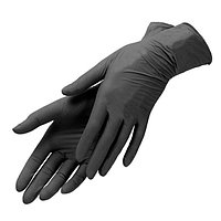 Перчатки Black vinyl/nitrile blend gloves нитрило-виниловые  (100 штук) размер М