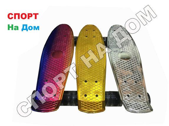 Скейтборд - Пенни Борд серия ХРОМ (пластборд), фото 2