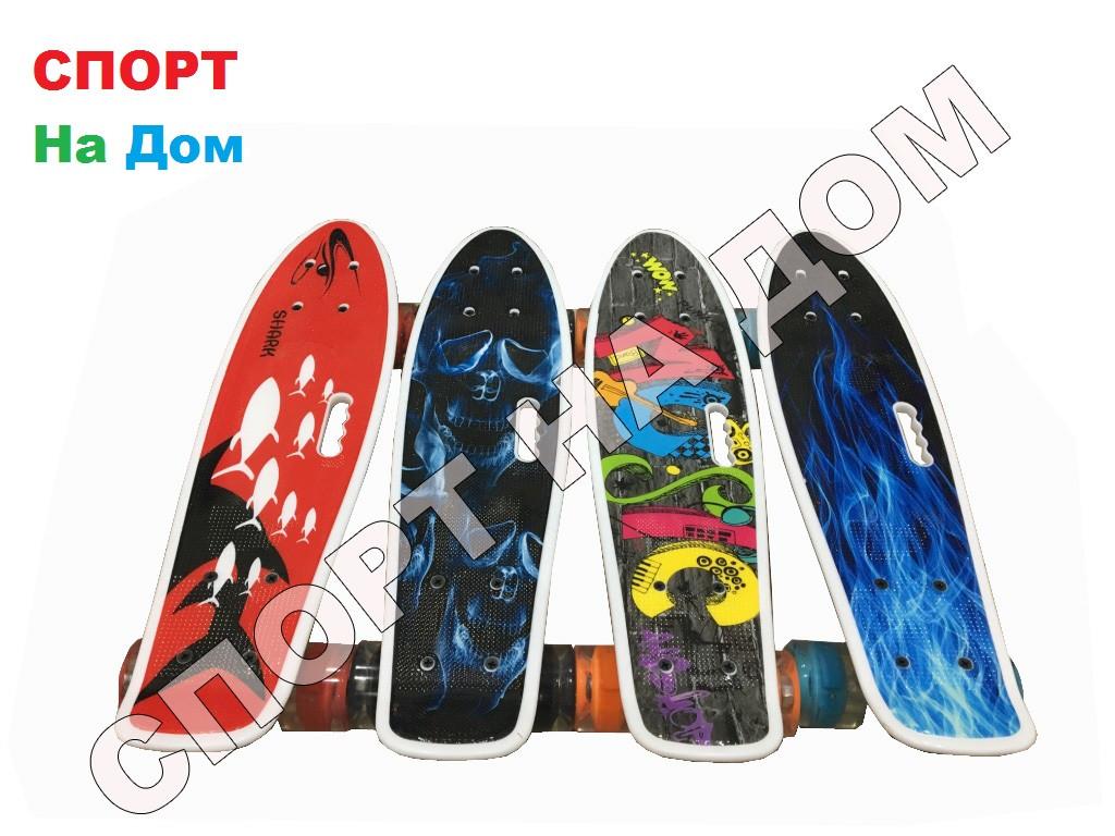 Скейтборд - Пенниборд с ручкой для детей (пластборд)