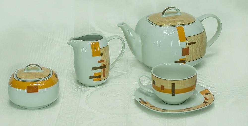 Сервиз чайный 6 персон 15 предметов 29803 leon