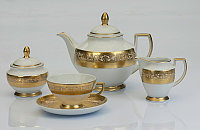 Сервиз чайный 12 персон 27 предмета Constanza Majestic Creme Gold