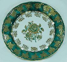 Тарелка мелкая 19см зеленая роза зеленый