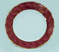 Тарелка мелкая 21см Бордовый золотая отводка