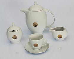 Сервиз кофейный 12 персон 27 предметов Чехия B360 point