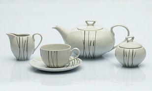 Сервиз чайный 12 персон 27 предметов Чехия Yvonne E935