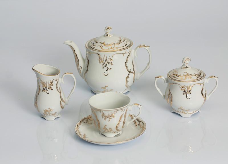 Сервиз чайный 12 персон 27 предметов Rococo 7830