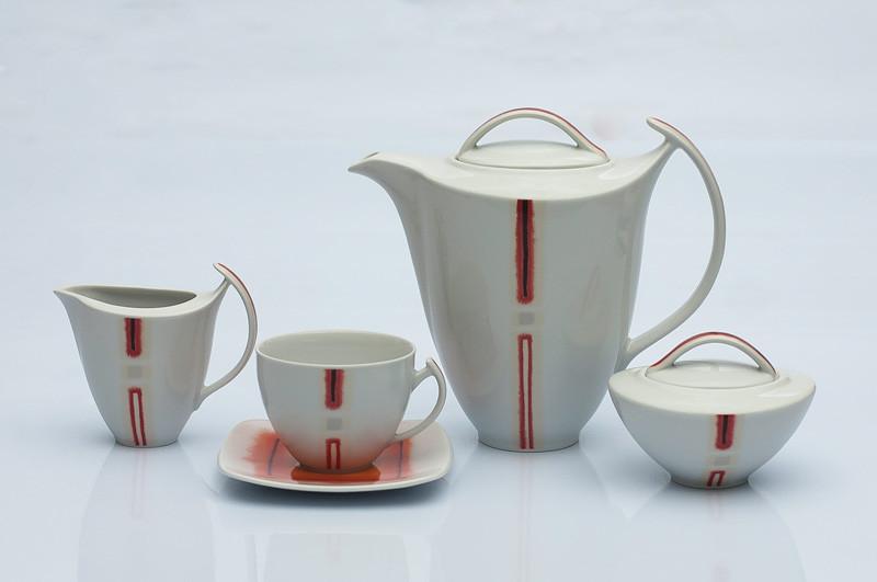 Сервиз чайный 12 персон 27 предметов Чехия Akcent 9980