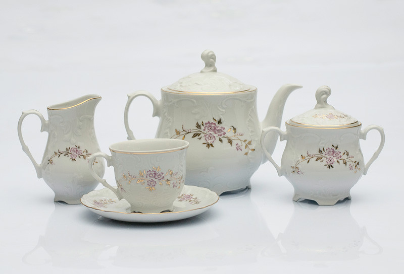 Сервиз чайный 12 персон 27 предметов Rococo E417