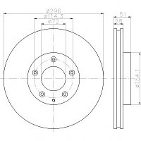 Тормозные диски Mazda Mpv  (02-06, передние, D296, Optimal)