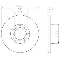 Тормозные диски Mazda  626 (87-92, передние, D242-tn20, Optimal)