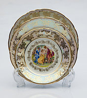 Набор тарелок 6персон 18предметов Мадонна перламутровая Carlsbad Чехия