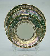 Набор тарелок 6 персон 18 предметов Лист зеленый Carlsbad, Чехия