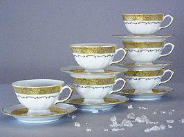 Набор чайных пар 6 персон 12 предметов Лента матовая